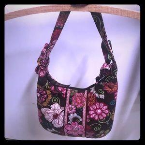 Vera Bradley Retired Floral Satchel Handbag Purse